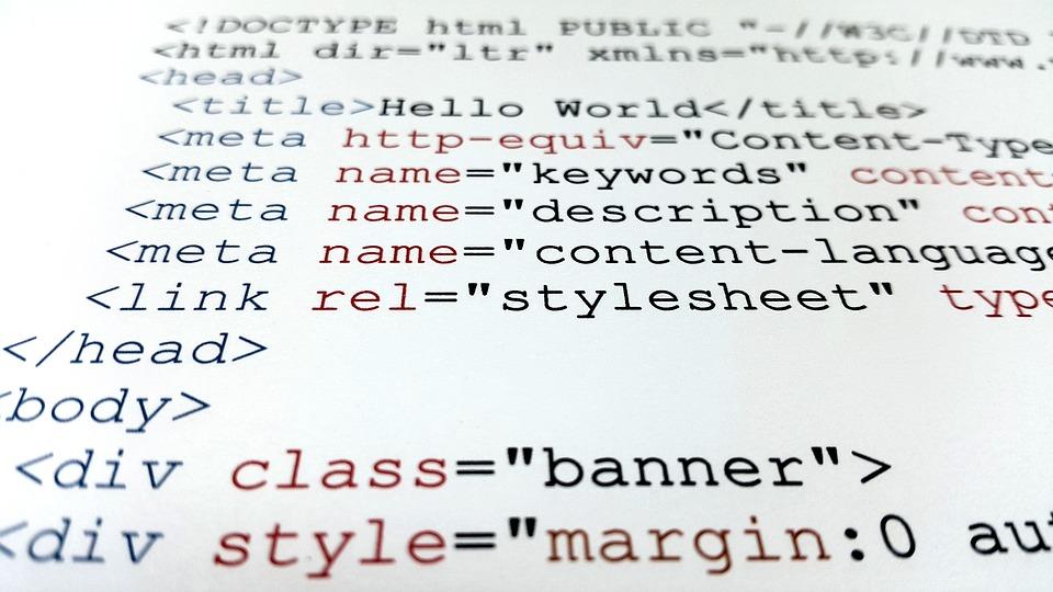Een overzicht van de code met meta descriptions